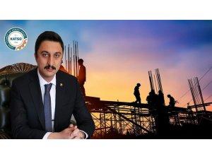 """Başkan Alibeyoğlu: """"Faiz ve malzeme fiyat artışı inşaat sektörünü vurdu"""""""