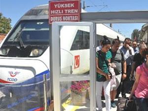 Hızlı tren biletinde ''uçak'' modeli