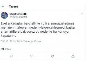 Adana Demirspor'da Balotelli defteri kapandı