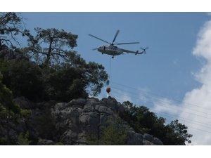 Antalya'da çıkan orman yangınında 1 dekarlık alan zarar gördü