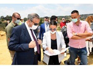 Vali Su, TÜİOSB şantiye alanında incelemelerde bulundu