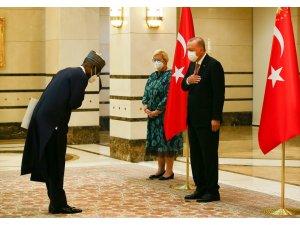 Nijerya Büyükelçisi Abba, Cumhurbaşkanı Erdoğan'a güven mektubu sundu