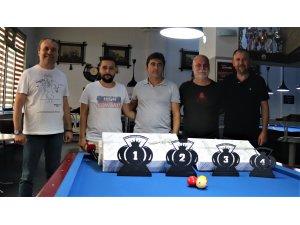 Denizli'de bilardo tutkunları bu turnuvada buluştu