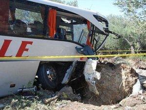 Balıkesir Havran'da otobüs devrildi