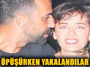 Demet Evgar ile Karayel öpüşürken yakalandı