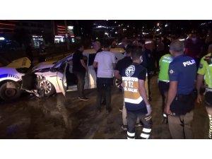 Bursa'daki kontrol noktasında aracın çarpması sonucu yoğun bakıma alınan polis memurunun durumu iyiye gidiyor