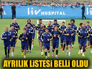 Fenerbahçe'de ayrılacaklar belli oldu!