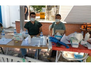 Gölbaşı'nda mobil aşı standı kuruldu