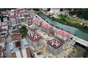 Doğankent'teki afet konutlarının inşaatı sürüyor