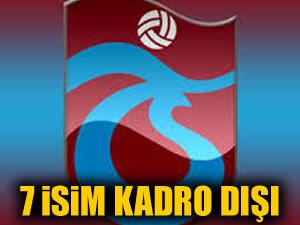 Trabzonspor'da 7 isim kadro dışı
