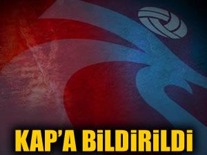 Trabzonspor Sefa Yılmaz'ı KAP'a bildirdi