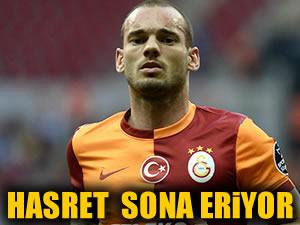 Galatasaray'da Sneıjder hasreti sona eriyor