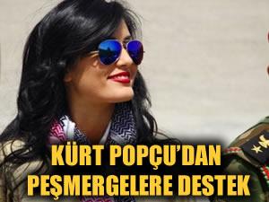 Kürt popçu Helly Luv'dan peşmergelere moral ziyareti