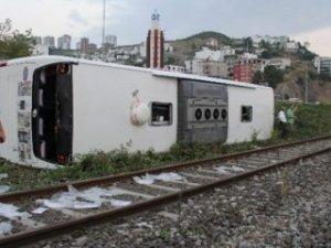 Bir yolcu otobüsü kazası da Samsun'dan: 51 yaralı