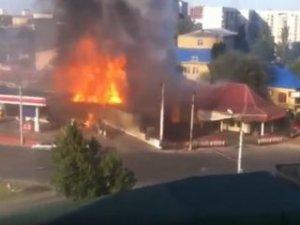 Rusya'da benzin istasyonundaki patlama