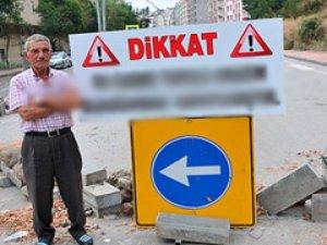Belediyeye tepki için yolu kesti!