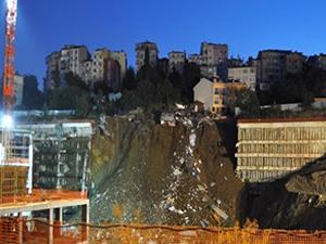 Üsküdar Belediyesi inşaatında çökme