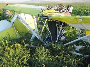 Tek kişilik özel uçak düştü: 1 ölü