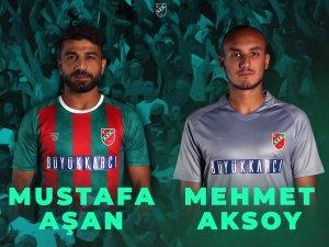 Karşıyaka, Mustafa Aşan ve Mehmet Aksoy'la sözleşme yeniledi