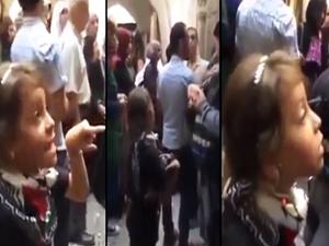 Filistinli kız İsrail polisine haddini bildirdi