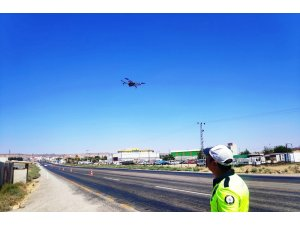 Bayram'da kazaları en aza indirmek için dronlu denetim yapılıyor