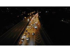 Kurban Bayramı dönüşü TEM Otoyolu'nda trafik yoğunluğu