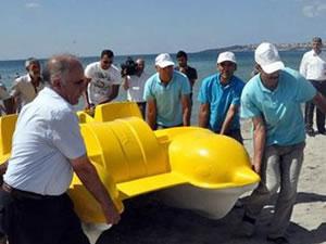 Belediye deniz bisikletlerini topladı