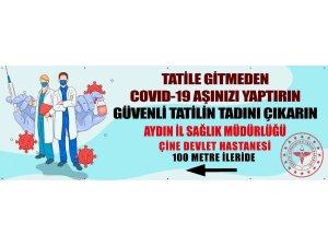 Aydın'da yoldan geçen herkese aşı hizmeti