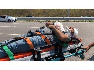 Bayram tatili dönüşü Kuzey Marmara Otoyolu'nda feci kaza: 1'i ağır 5 yaralı