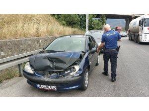 Samsun'da 5 aracın karıştığı zincirleme kaza: 1 yaralı