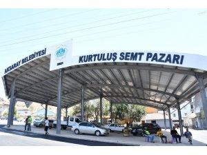 Aksaray'da Kurtuluş Semt Pazarı yenilendi