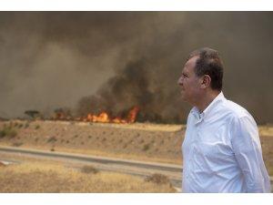 Başkan Seçer, Silifke ve Aydıncık'taki yangın bölgelerini inceledi