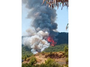 Marmaris'teki orman yangınının ilk başladığı ana ait görüntüler ortaya çıktı
