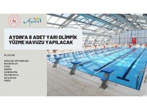 Aydın'a 8 adet yarı olimpik yüzme havuzu yapılacak