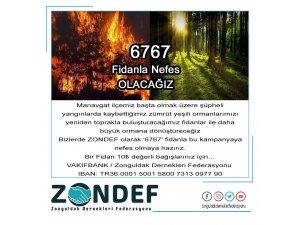"""ZONDEF'ten """"6767"""" fidan kampanyası"""