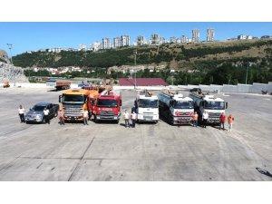 Samsun Büyükşehir ekipleri yangın bölgesinde