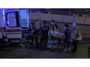 Soğanlık'ta sıkışmalı trafik kazası: 2 yaralı