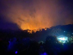 Seydikemer'de tekrar başlayan yangın kontrol altına alındı