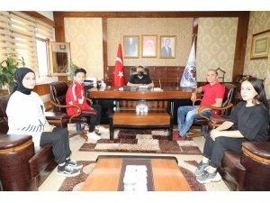 Başkan Şayir, başarılı sporcuları ağırladı