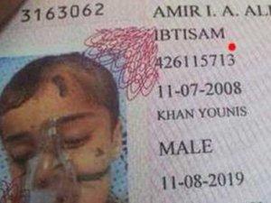 Gazzeli çocuğun savaştan kaçış pasaportu!