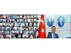 Milli Eğitim Müdürü Akyol, Bakan Selçuk'un video konferans toplantısına katıldı