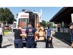 Edirne'de yaşlı adam parkta 2 kişiyi bıçakladı, o anlar kameraya yansıdı