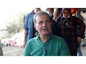 AK Parti Genel Başkan Yardımcısı Çelik yangın bölgesinde vatandaşlarla bir araya geldi