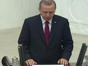 Cumhurbaşkanı Erdoğan, yemin etti!