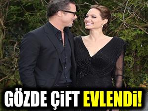 Hollywood'un gözde çifti evlendi!