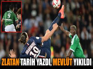 İbrahimovic'in tarih yazdığı maçta, Mevlüt yıkıldı!