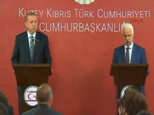 Erdoğan KKTC'de açıklama yapıyor / CANLI