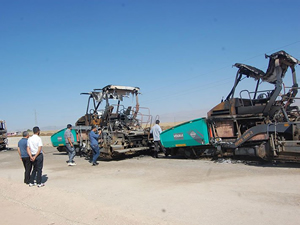 PKK, Muş'ta bulunan iş makinelerini ateşe verdi!