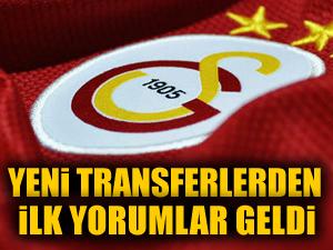 G.Saray'ın yeni transferlerinden ilk açıklamalar geldi