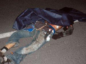 Sakarya'da otomobilin çarptığı kişinin kafası parçalandı